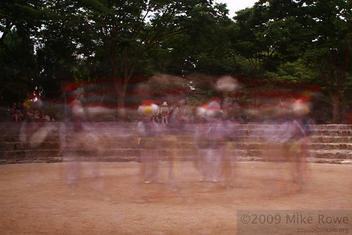 Whirling ghostly dancers