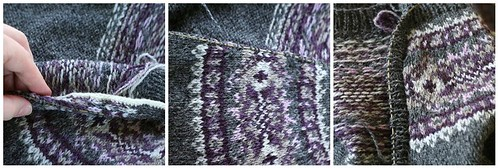 Picking up stitches for the ribbing