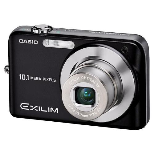 Casio Exilim EX-Z1080 10MP Digital Camera with 3x Anti-Shake Optical Zoom (Black) 01 Front