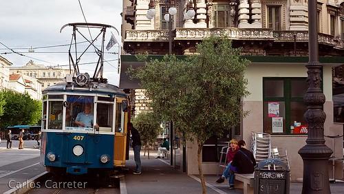Tranvía en Piazza Dalmazia