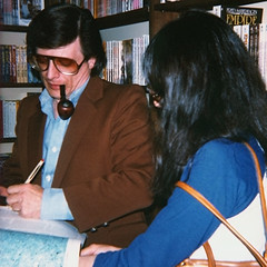 Harlan Ellison at Dangerous Visions Bookstore