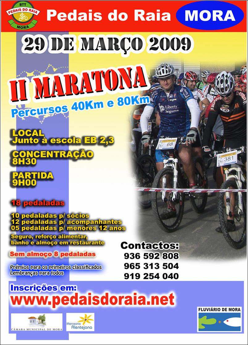 II Maratona Pedais do Raia - Mora