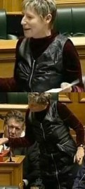 Lianne Dalziel and her fetish clothing in parliament
