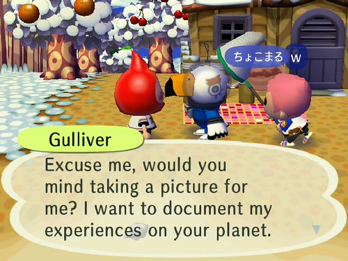 Chokomaru was trying to get Gulliver in his net!