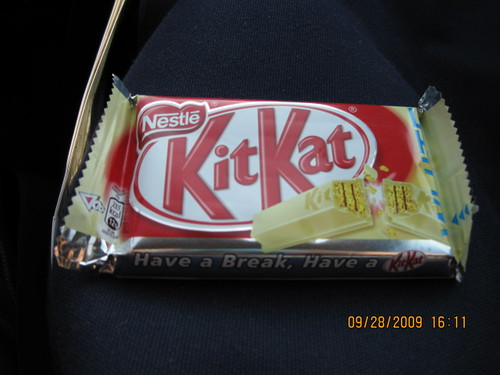 The elusive white chocolate Kit-Kat by you.