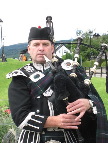 A Bagpiper in Scotland