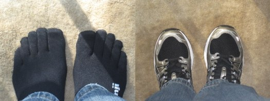 the new running socks & shoes