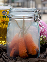 Salmon, Smoked in a Jar