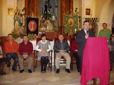 Antonio Gallego pronunciando el pregón (Foto de José Luis Pantoja)