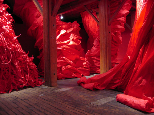 Paper installation at the Dumbo Arts Center.
