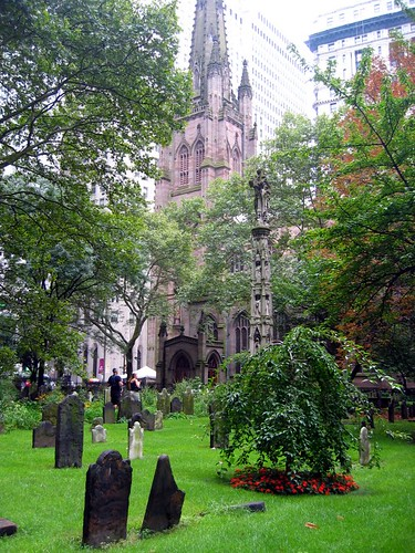 Trinity Church from its cemetery.