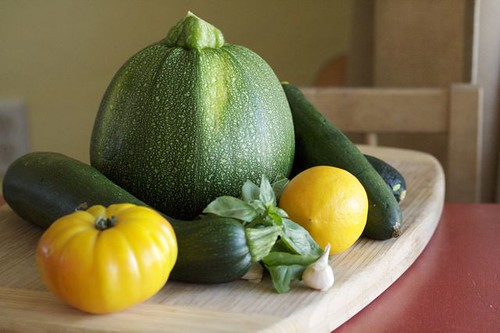 Squash & veg from Guido-Basil from our Garden