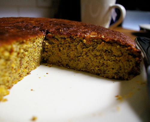 Clementine cake closeup
