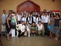 I ragazzi dei villaggi del Sud del Libano che partecipano ad Art Gold