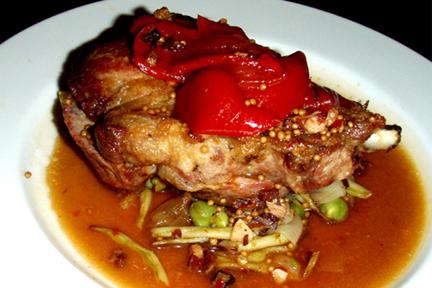 Pork Chop, Wax Beans, Squash, Lipstick & Pimento Peppers, Garbanzo, MyLastBite.com