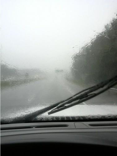 Driving in Heavy Rain on I-26