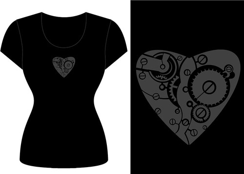 steampunk heart - t-shirt