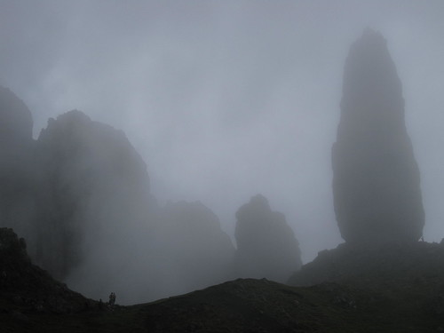 The Fog Rolling in at the Old Man of Storr