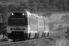 Canberra Xplorer racing into Tarago Station along the Bombala Line.