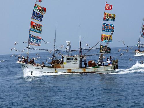 漁船の海上パレード~笹川流れ海の縁日