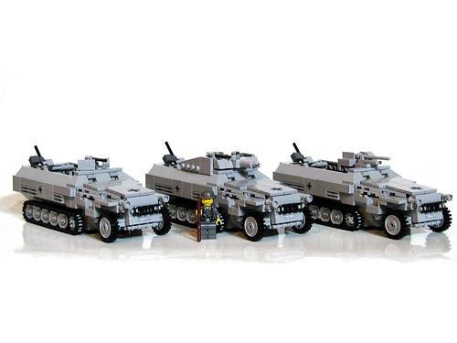 SdKfz 251/1, SdKfz 251/9 y SdKfz 251/10