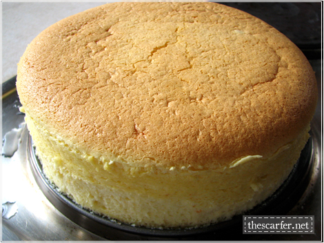 Orange-Vanilla Cotton Soft Cheesecake