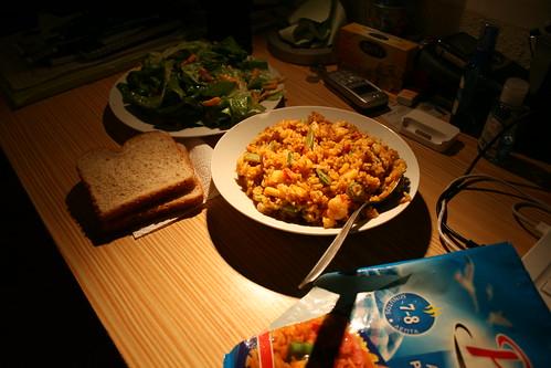 Paella Marisco (Calamari and Shrimp)