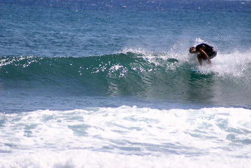 Surfing on Poipu Beach