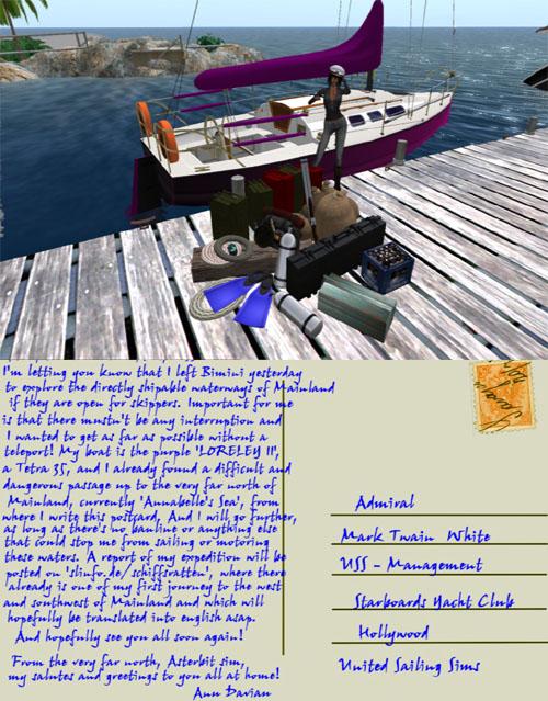 Anu Daviaiu sets sail!