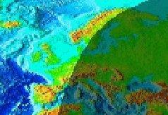 Sonnenuntergang Nordeuropa am 20.04.2009