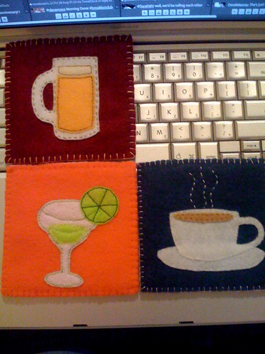 3 of 4 Coasters, Fronts