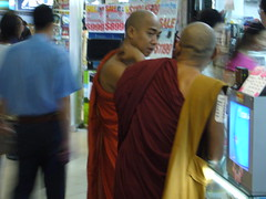 Monks, Sim Lim shopping center, Singapore