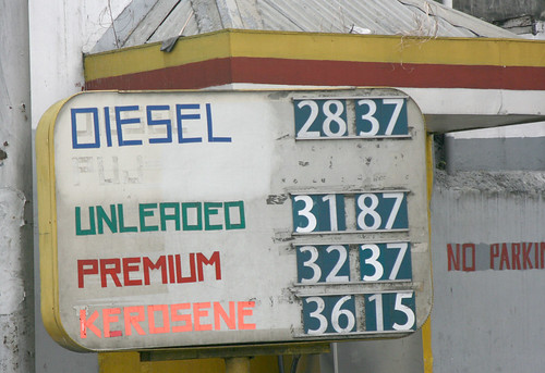 gas station- diesel and kerosene prices
