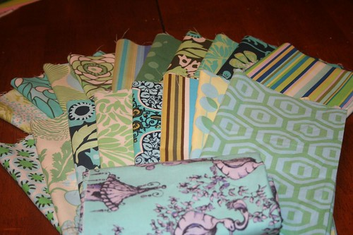 Mod Quilt Fabrics Ready for Cutting
