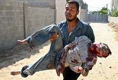 'Let him cry for his family' by freegazaorg