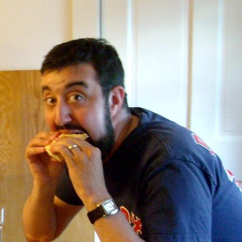 Ben eating