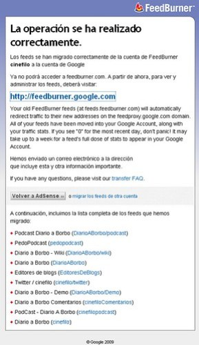 Migracion FeedBurner a Google - 3