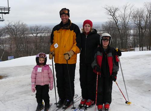 Family Skiing At Spirit Mountain