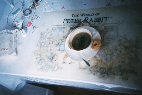 早上起來我們喝咖啡