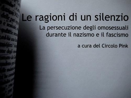Circolo Pink (a cura del), Le ragioni di un silenzio, Ombre corte 2002; frontespizio