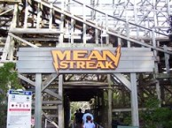 Cedar Point - Mean Streak Sign