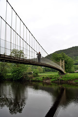 Suspension bridge Betws-y-Coed 1