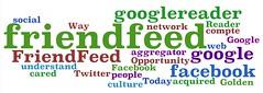Un Wordle de mes liens sur les médias sociaux