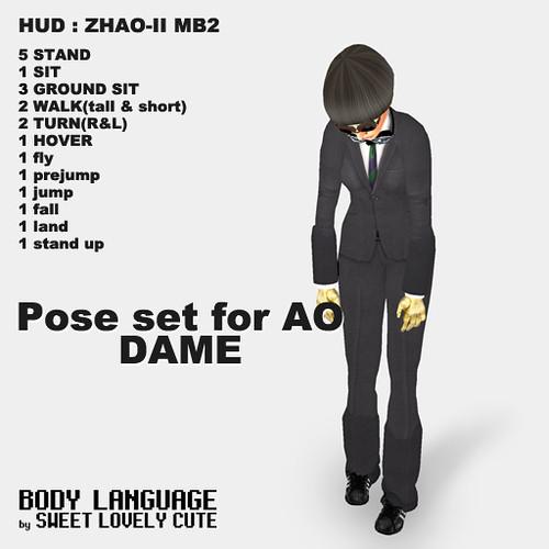 DAME pose set
