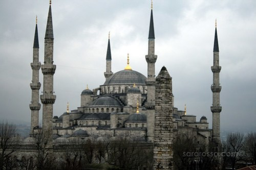 View from our hotel of the Blue Mosque, Istanbul, Turkey