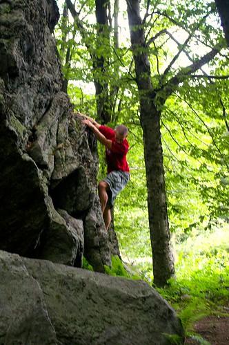 Rest area boulders climbing
