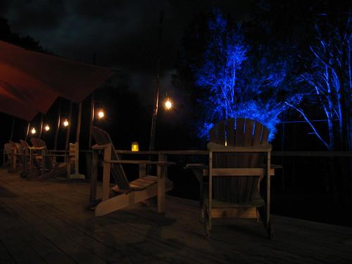 The veranda at night