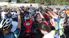 Lance Armstrong getting mobbed