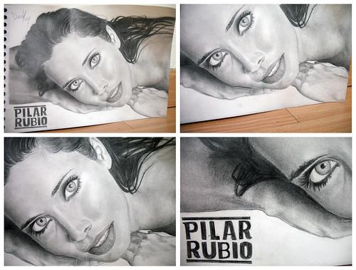 Pilar Rubio Retrato detalles
