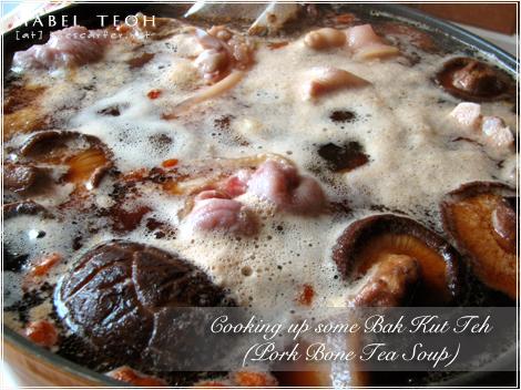 Cooking up some Bak Kut Teh (Pork Bone Tea Soup)